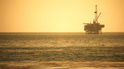Offshore Oil Rig Drilling Platform - Pacific Coast