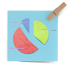 graph icon  recycled paper stick