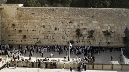 Stock Video Footage of the Western Wall in Jerusalem filmed in Israel at 4k with Red.