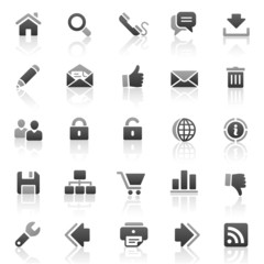 Black Gray Web Icons