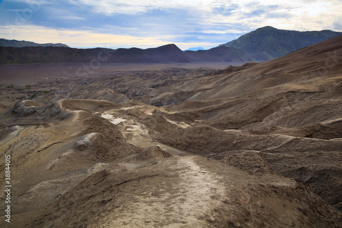 Path to Mount Bromo volcano, East Java, Surabuya, Indonesi
