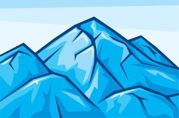 vector illustration of mountain landscape
