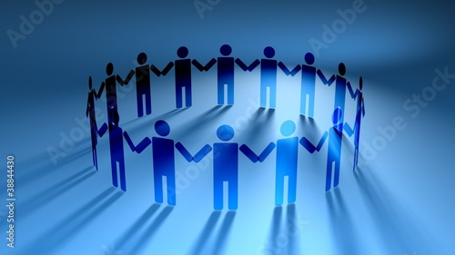 People Holding Hands in Circle