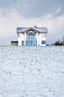 Einfamilienhaus im Schnee