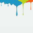 Painting colorful dripping, vector illustration