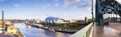 Panoramic of Newcastle and Gateshead quayside