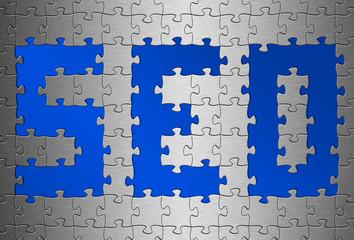 Puzzle Aluminium gebürstet SEO