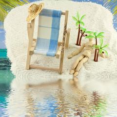 concept vacances tropicales à l'île de la Réunion