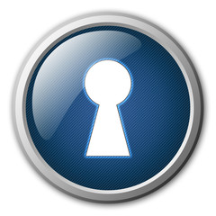 Secure Sign Glossy Button