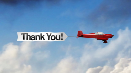 Airplane Banner - Thank You