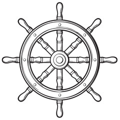 rudder - ship wheel