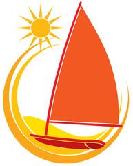 Sun and boat