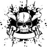 Vector illustration skull and crossed bones