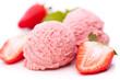 Erdbeeren und Erdbeereis