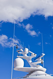 Ships antenna and navigation system versus the sky poster
