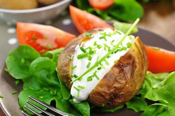 Backkartoffeln mit Quark