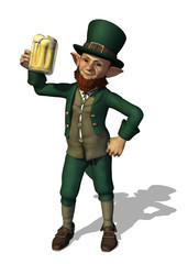 Leprechaun Enjoying a Mug of Beer