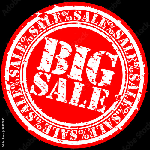 Big sale rubber stamp, vector illustration