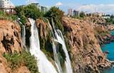 Fototapety Duden waterfall in Antalya, Turkey