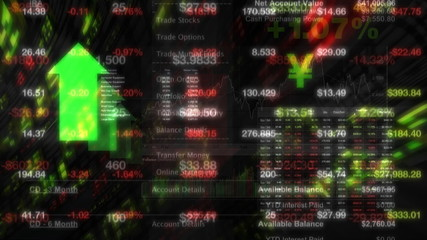 Stock Market Tickers Digital Data