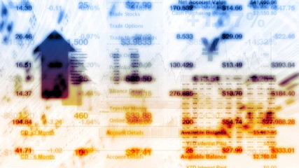 Stock Market Tickers Digital Data