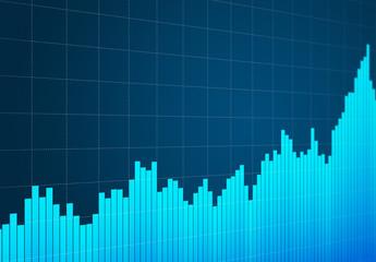 Graphique boursier en hausse