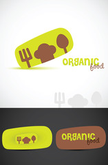 Stylized Icon & business cards for Organic food