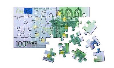 100 Euro Schein Puzzle