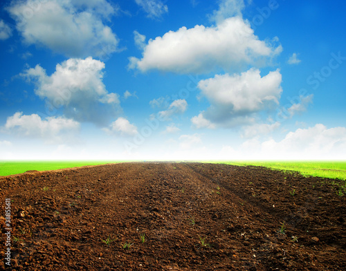 Soil Background blue sky
