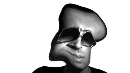Funhouse Mirror Guy with Sunglasses
