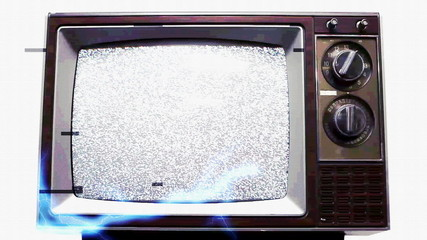 Television Static Electrical Shock Overload