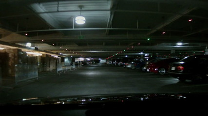 Driving Through an Underground Parking Structure