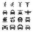 Transportation Icons set elegant series