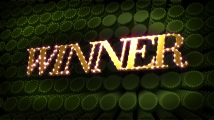 Winner Glitz Sparkle Text