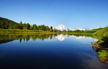 Panoramic view of Oxbow Bend
