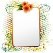 Cartolina Esotica con Ibiscus-Exotic Card Hibiscus-Vector