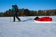 Winterexpedition mit Ski und Pulka