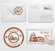 Envelope with Rome stamp