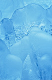 Thick natural clean ice formation detail