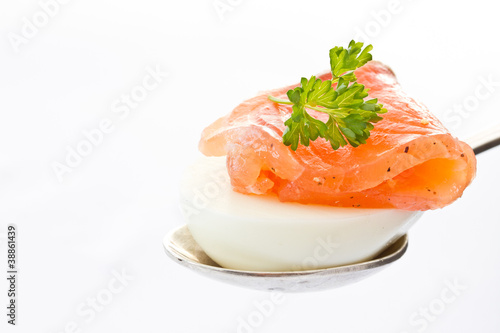 eggs and salted trout