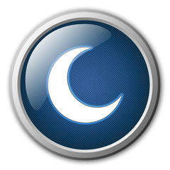 Moon Glossy Button