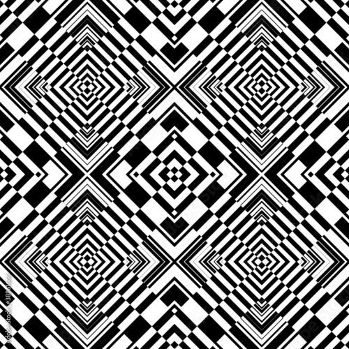 Seamless op art geometric pattern.