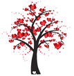 Decorative tree with hearts