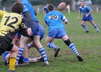 la sortie du ballon au rugby