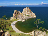 Shamanka-Rock on Baikal lake, Russia