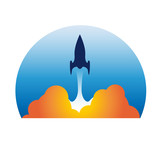 Logo rocket # Vector