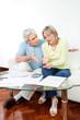 Streitende Senioren mit Papierkram