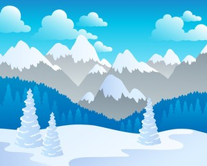 Mountain theme landscape 4