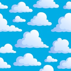 Seamless background with clouds 3