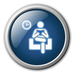 Waiting Room Glossy Button